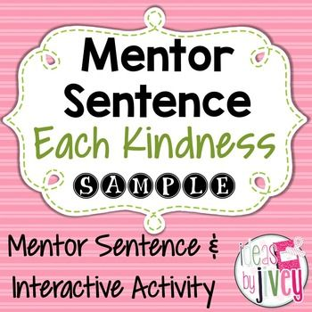 #kindnessnation#weholdthesetruthsMentor Sentences have completely changed the way my students view writing and grammar, and it's made teaching even more enjoyable! Here is a free lesson you can try out in your classroom with the book, Each Kindness by Jacqueline Woodson.