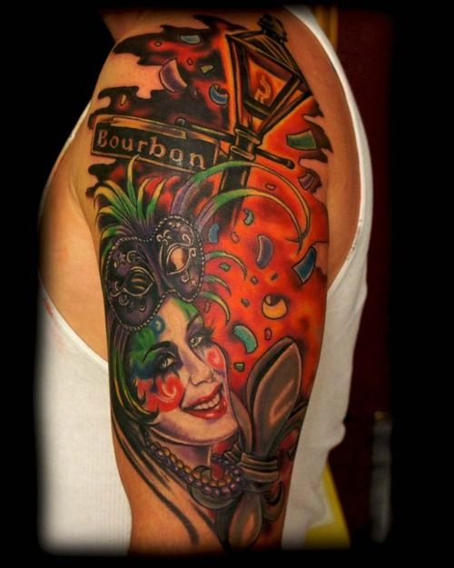 Mardi gras pictures and tattoos and body art on pinterest for Mardi gras mask tattoo