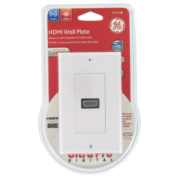 GE Jasco 87635 Single Hdmi Wall Plate