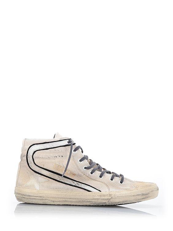 GOLDEN GOOSE Hi- Top Sneakers 'Slide'. #goldengoose #shoes #sneakers