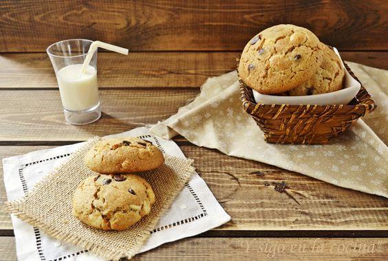 y sigo en la cocina: Cookies integrales en blanco y negro