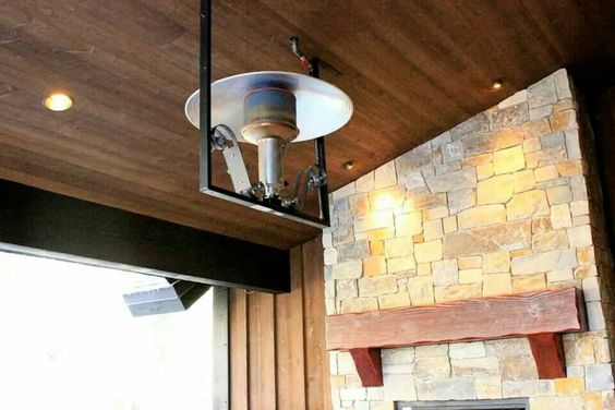 Outdoor ceiling mounted heater