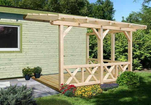 Freisitz Anbau Unterstand 2 Anbau Haus Gartenhaus Holz Diy Pergola