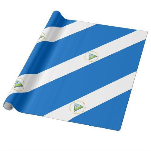 Nicaragua Flag Wrapping Paper Zazzle Com Nicaragua Flag Wrapping Paper Personalized Custom