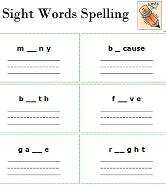 free printable spelling worksheets sight words worksheets free printable 2nd grade english. Black Bedroom Furniture Sets. Home Design Ideas