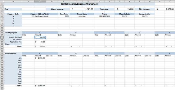 Pictures Rental Income Worksheet Beatlesblogcarnival – Income Worksheet