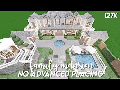 No Advanced Placing Family Mansion Bloxburg Speedbuild Youtube In 2020 House Plans Mansion Family House Plans Two Story House Design