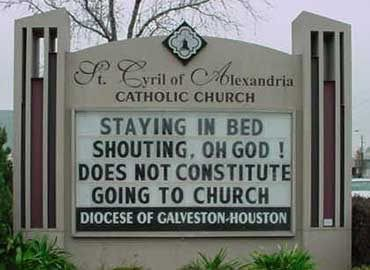Church signs never cease to astonish me.