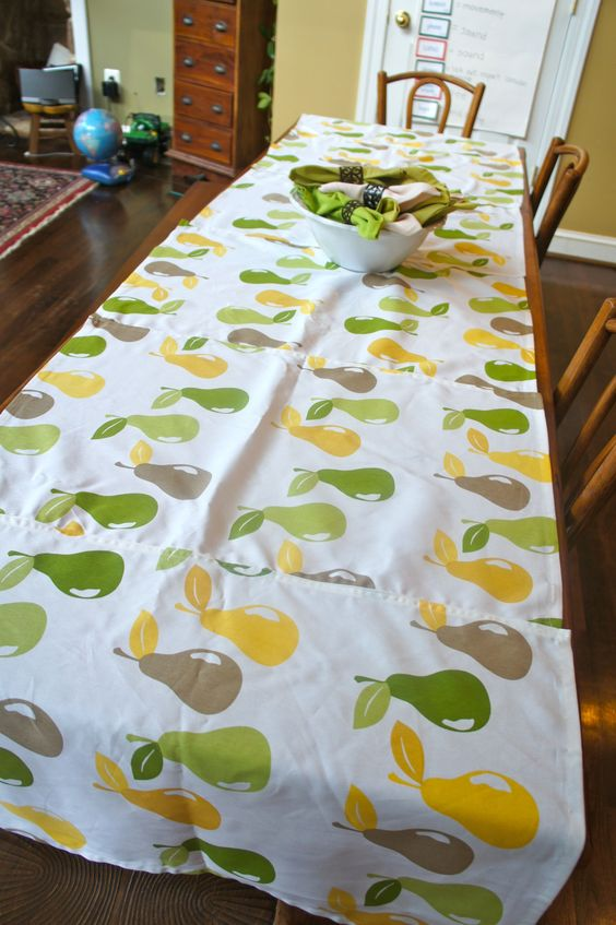 Turned 6 Target dish towels into a tablecloth for summer.