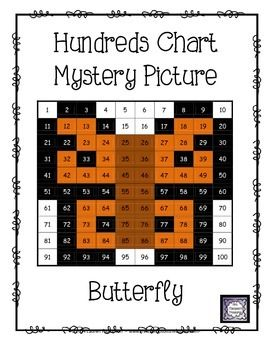 FREE Butterfly Hundreds Chart Mystery Picture - This is a fun ...