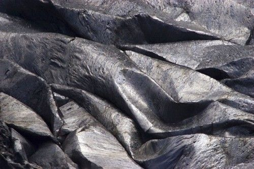 Folds developed in the crust of the lava lake at Erta Ale
