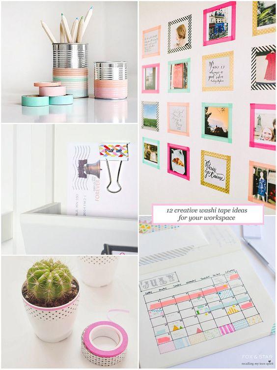 12 creative washi tape ideas for your workspace #washitape #workspace