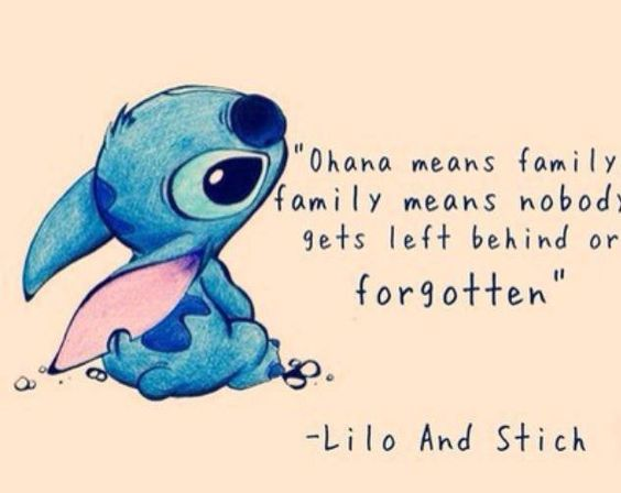 """Ohana Means Family Quote Tattoo: Favorie Quote? """"Ohana Means Family, And Family Means No"""