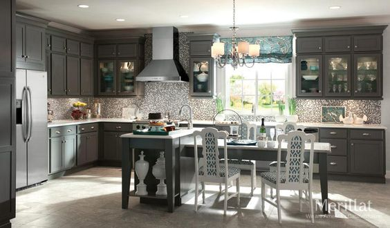 Traditional maple cabinets and gray on pinterest for End of line kitchen units