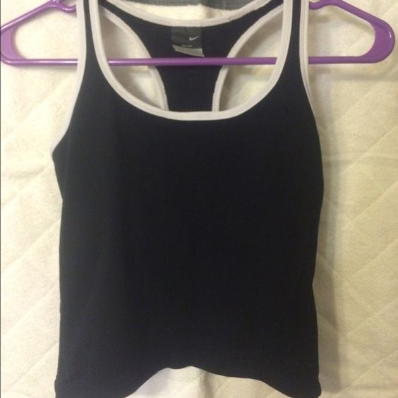 Nike Dri fit tank Too small! Love the black ! Slightly worn. Needs a new home ! #fitlife Nike Tops Tank Tops