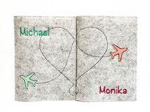 Reisepasshüllen mit Herz :-)