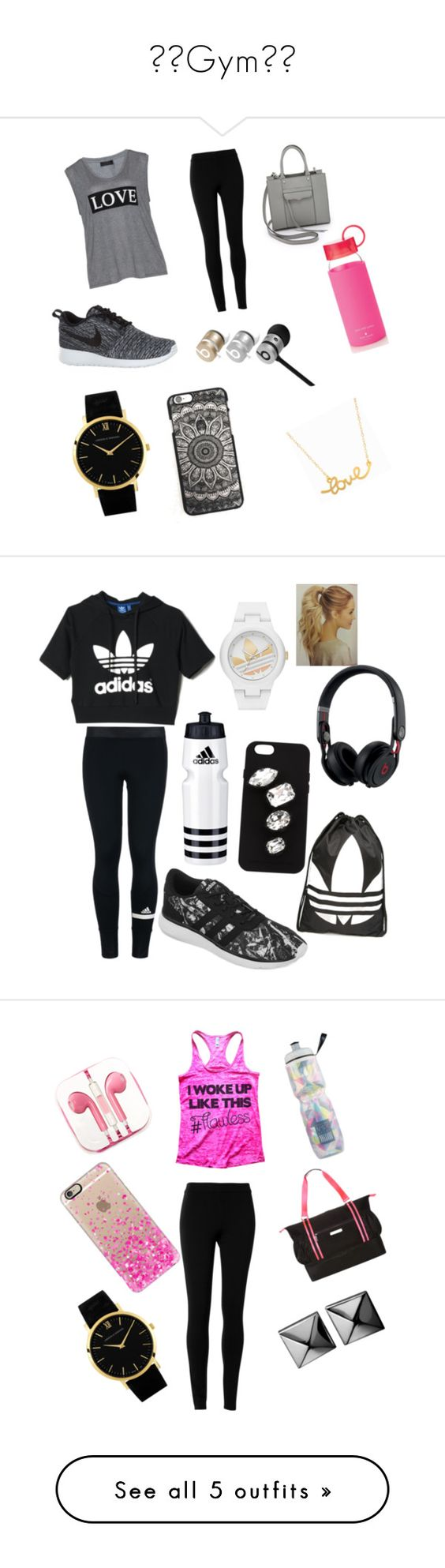 """""""❤❤Gym❤❤"""" by aneesakhan02 ❤ liked on Polyvore featuring Carmakoma, Max Studio, NIKE, Rebecca Minkoff, Beats by Dr. Dre, Larsson & Jennings, Minnie Grace, Kate Spade, adidas and STELLA McCARTNEY"""