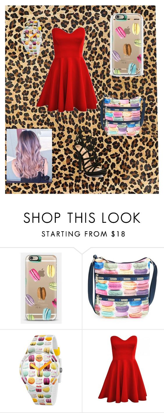 """""""A outfit"""" by jordanbond55 ❤ liked on Polyvore featuring Casetify, LeSportsac and Swatch"""