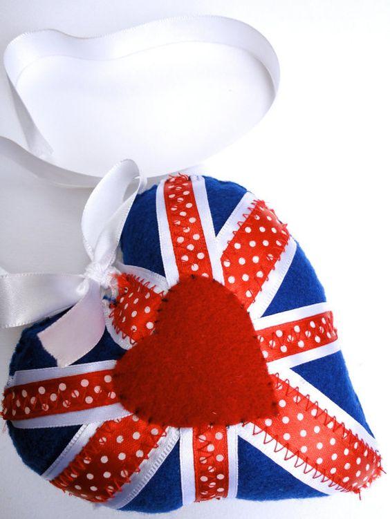 A Spotty Jack stitched felt heart by theartinheart on Etsy, £5.00