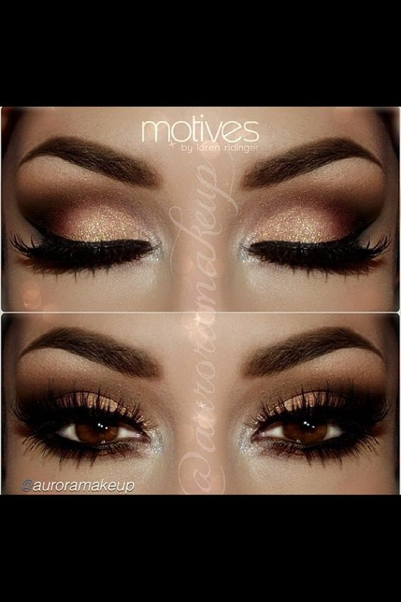 Wedding makeup brown eyes brown hair