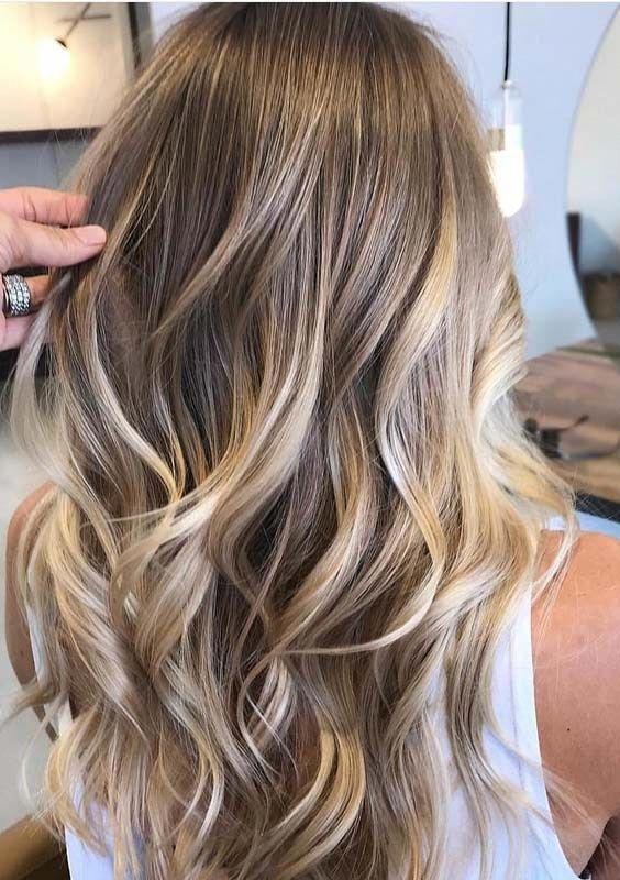 Balayagehair Diyhairstyle Hairstyleforlong Quickhairstyle Underlightshair In 2020 Haarfarben Haarfarbe Balayage Haare Balayage