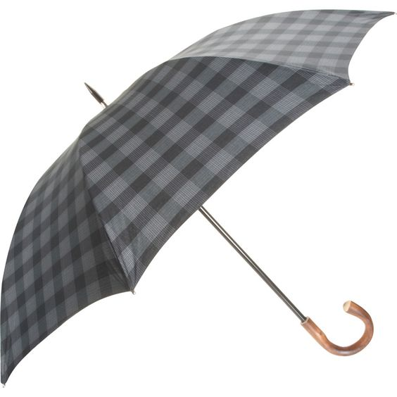 Plaid Stick Unbrella