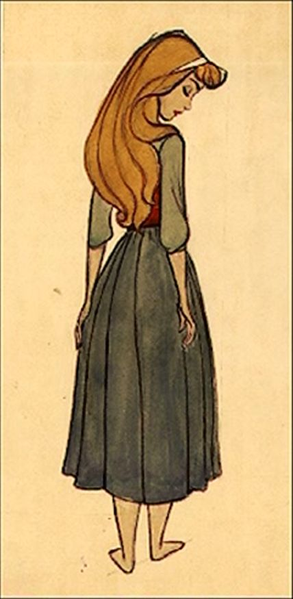 Concept art for Aurora in The Sleeping Beauty // would actually look like Chantilly if her hair was more reddish