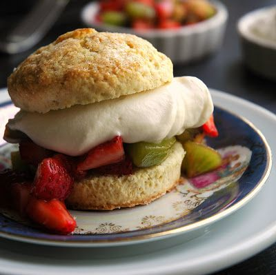 Mangoes and Palm Trees: Strawberry Kiwi Shortcakes with Vanilla Mascarpone