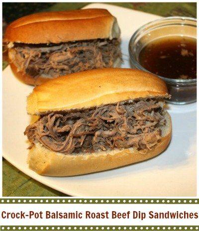 Crock-Pot Balsamic Roast Beef Dip Sandwiches | CrockPotLadies.com