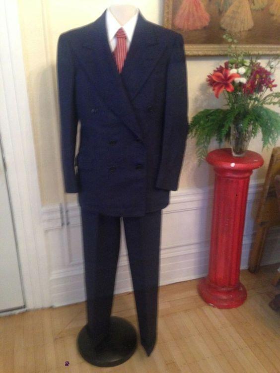 $50 http://www.ebay.com/itm/Beautiful-Mens-Vintage-30s-40s-Dark-Blue-Pinstripe-Suit-Boardwalk-Empire-50s-/131085648161