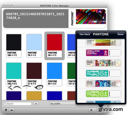 pantone color manager 210 730 macosx - Pantone Color Manager