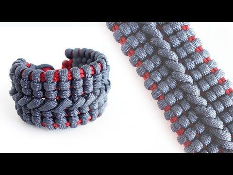 How To Make The Wide Bane S Cuff Paracord Bracelet Tutorial Knot