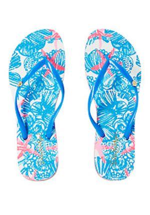 seashell print flip flops - Lilly Pulitzer