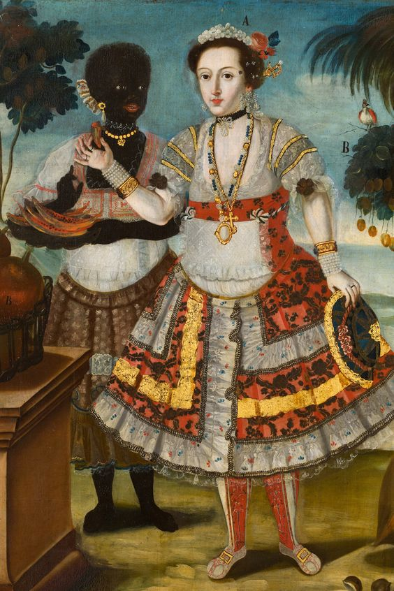 Vicente Albán, Noble Woman with Her Black Slave (Sra. principal con su negra esclava) (detail)