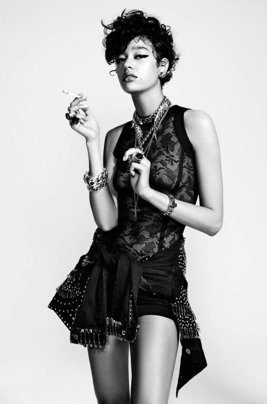"""Damaris Goddrie in """" Bad girl"""" by Jean-Baptiste Mondino for Numéro Magazine, September 2015."""