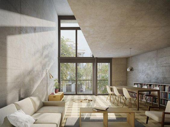 wohnsiedlung mehr als wohnen hunzikerareal pool. Black Bedroom Furniture Sets. Home Design Ideas