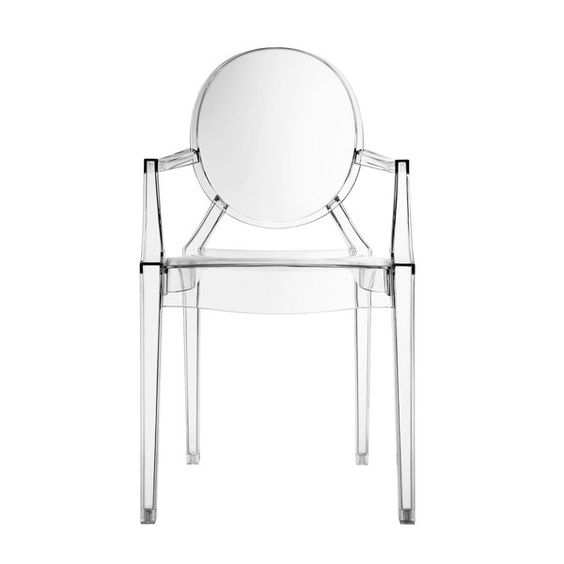 Philippe Starck Style Ghost Arm Chair Clear