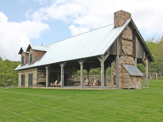 Rustic home design log home designs and rustic homes on for Pole barn design ideas