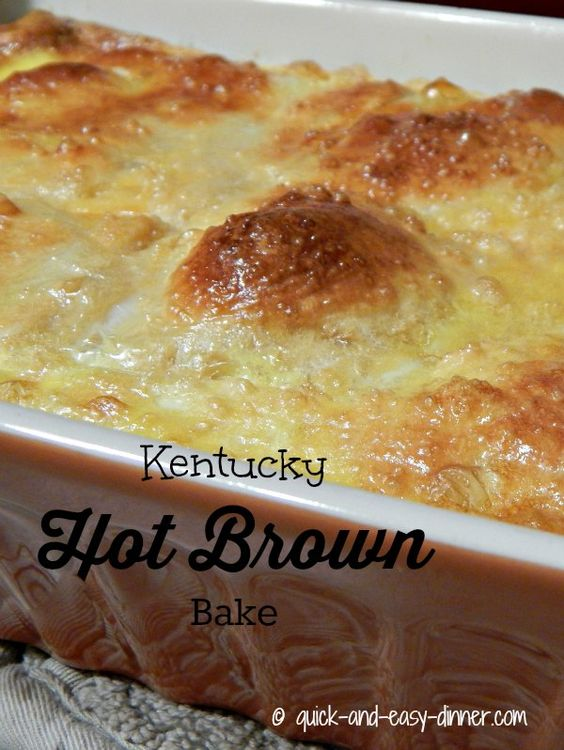 (OMG! This looks FABULOUS!) Tried it- love it! Kentucky Hot Brown Bake made with crescent rolls.