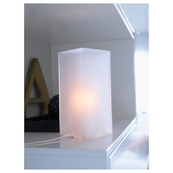 Grono Table Lamp With Led Bulb Frosted Glass White Ikea Table Lamp White Table Lamp Lamp