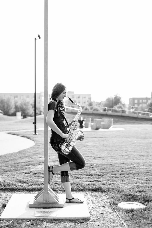 Shea McGrath Photography | Des Moines, Iowa Senior Portrait Photographer | senior girl photography saxophone | #seniorphotos