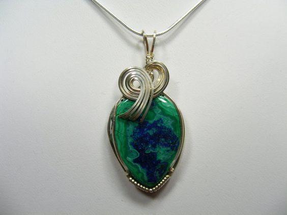 Azurite Malachite Beauty by chermigyll on Etsy, $89.00