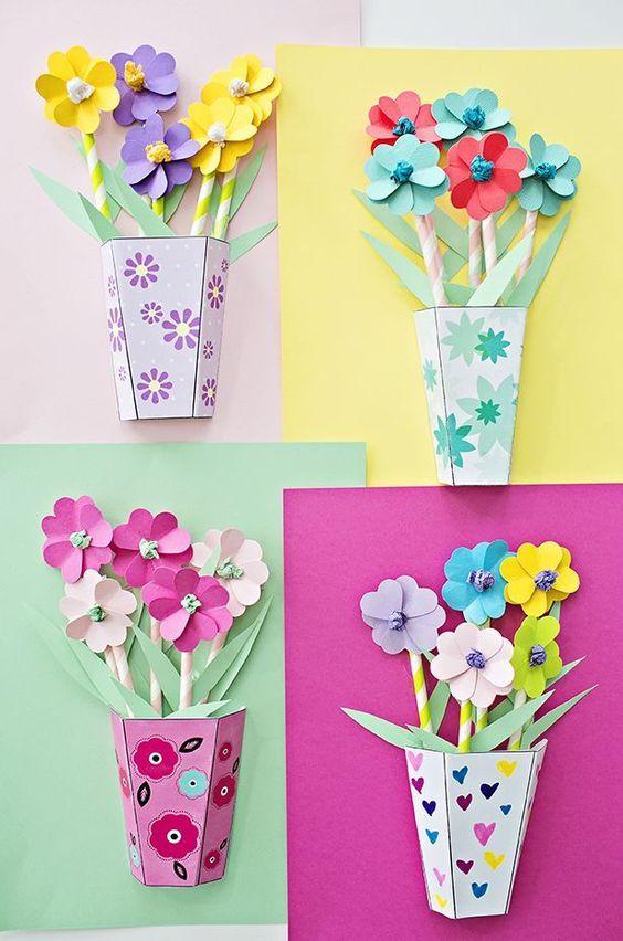 Mini Origami Pot Plant / Succulent Tutorial - Cute DIY - Paper ... | 852x564