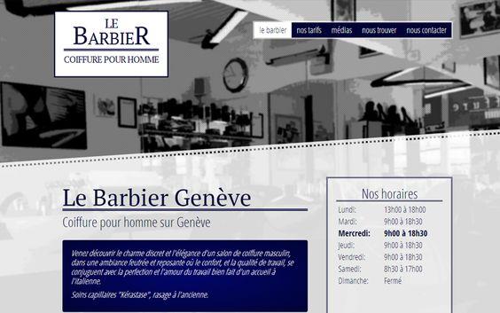 Le Barbier fait confiance à l'agence Web4 pour la création de son nouveau site Internet: www.le-barbier.ch en ligne maintenant! | Agence Web4