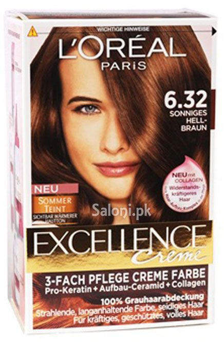 loreal paris excellence creme 632 golden light brown - Coloration Excellence