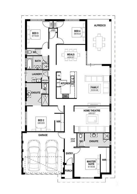 My Byron Home Designs Perth Single Storey House Design Plan Perth Wa House Design House Plans Farmhouse Home Design Plans