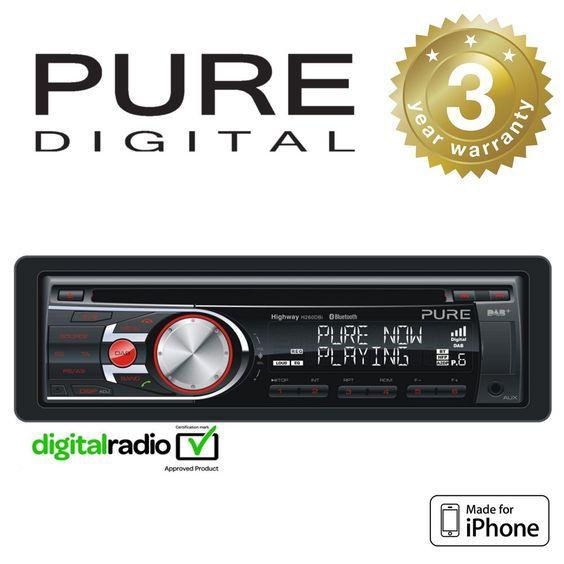 Pure DAB+ Radio Car Headunit Stereo CD Player With iPhone Control & Bluetooth  http://ebay.to/29bjqPQ