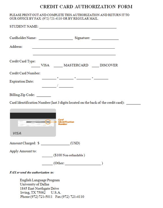 credit card authorization form free request and forms letter - medical authorization release form