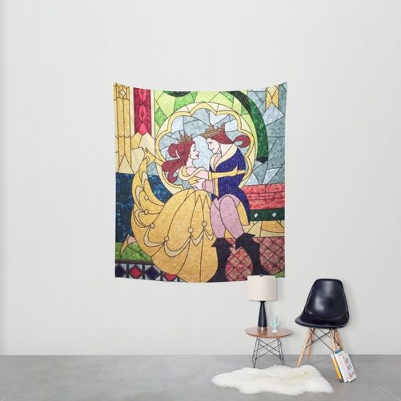 Beauty and the Beast Wall Tapestry by DisPrints   Society6