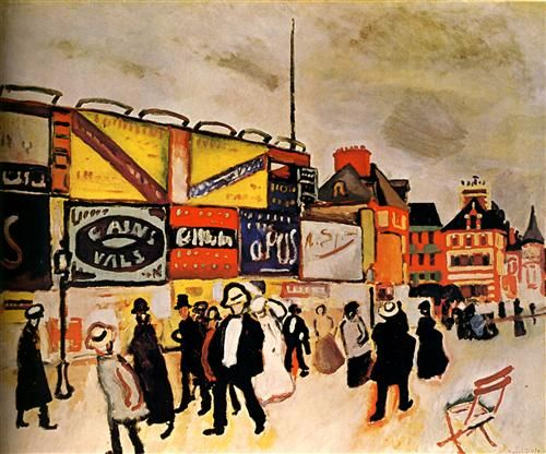 Posters at Trouville (Les Affiches à Trouville), by Raoul Dufy (French, 1877-1953).